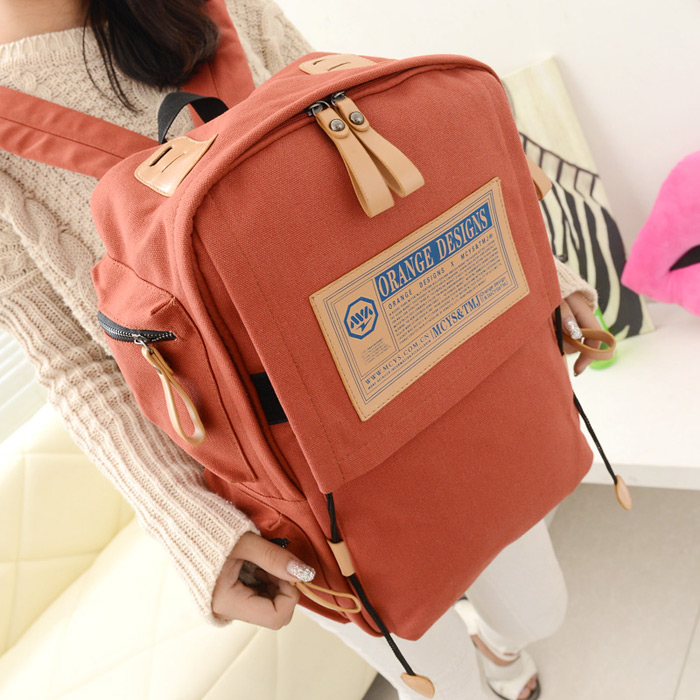 Ancient Korean man backpack school bag backpack AI tide girls canvas man bag student bags leisure bags