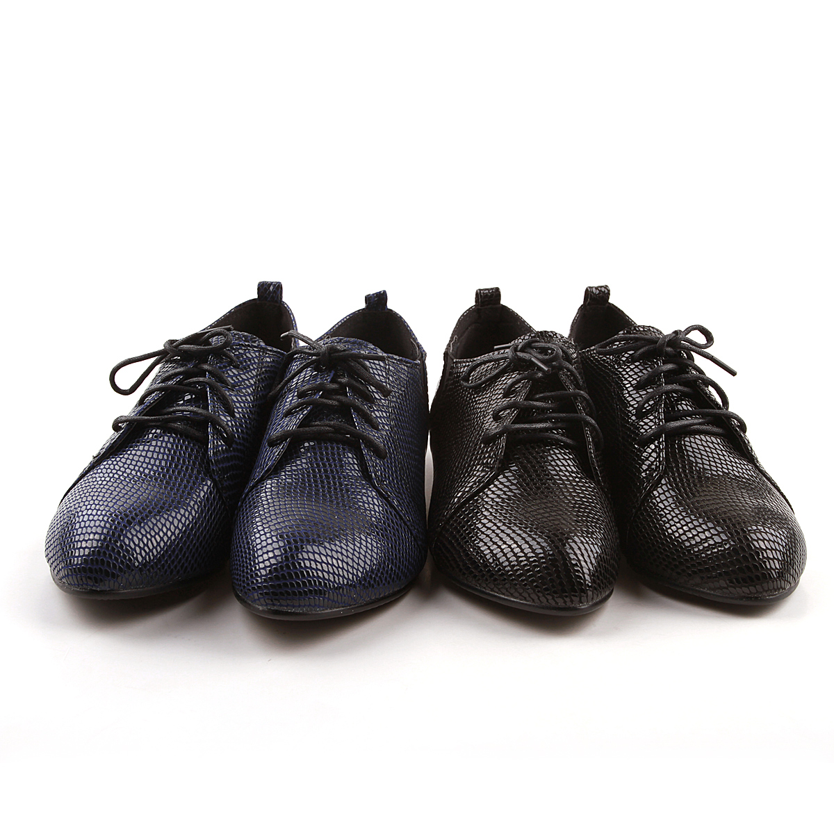 Fall 2015 new small pointed ms paint serpentine head layer cowhide leisure with British wind flat documentary shoes