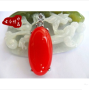 A dollar auction chalcedony sard oval pendant The Malay jade pendant necklace Fashion chain of clavicle
