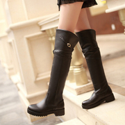 2016 autumn and winter boots MM fat fat boots high boots and boots boots around the cylinder to increase fertilizer boots