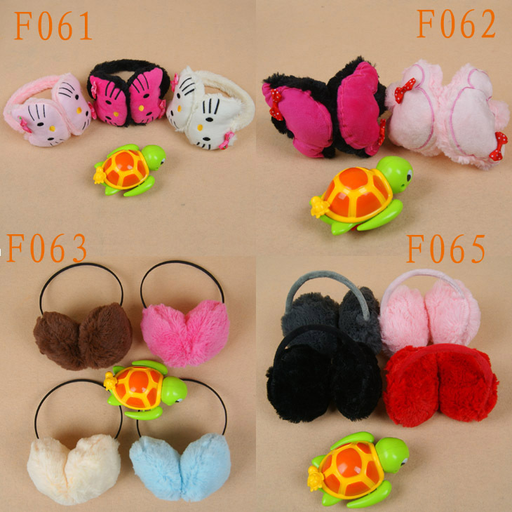 F061-065 children warm Mitch Mini Plush Earmuffs Ear ear bag cover baby warm earcap ear muffs