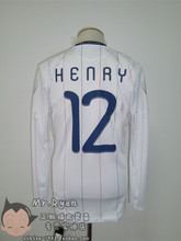 The 2010 10-12 World Cup France Away Jersey No. 12 Henry armband