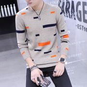 Sibol 2016 new winter sweater casual sweaters T-shirts shirt sweater slim Korean male tide
