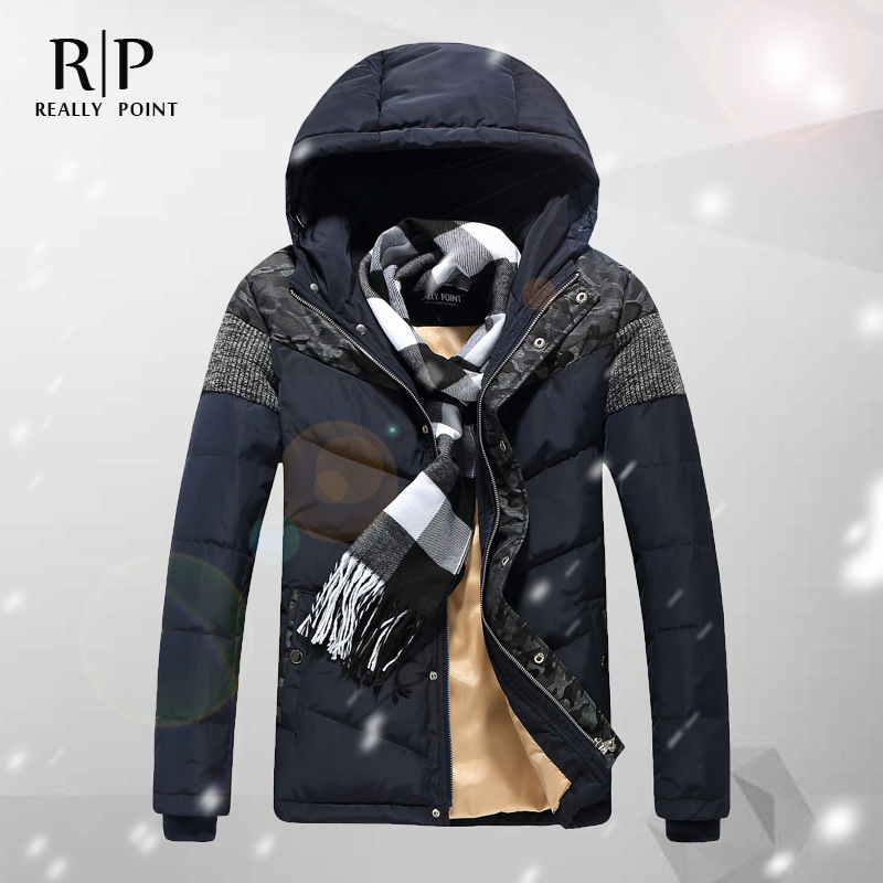 The Memory of men's winter new duck down men's down jacket More cotton-padded clothes to keep warm hooded youth coat of cultivate one's morality