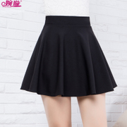 Winter skirt skirt female elastic sundress skirt waist skirt a A-line dress pleated skirt black dress pants