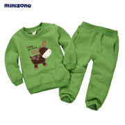 Children spring suit two pieces of cashmere sweater dress baby girls and boys autumn autumn and winter sports
