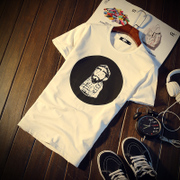 Men's summer T-shirt, T-shirt, white shirt, white T-shirt, white collar