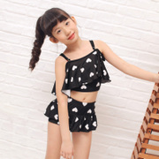 The new children cute child child flounced swimsuit bikinis split skirt girls super adorable swimsuit