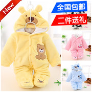 Baby clothing autumn and winter coat out baby romper 0 thick clothes 6 winter clothes 3 newborn