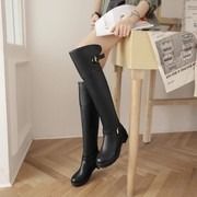 The knight boots female winter 2015 slim high-heeled boots Knee Boots high boots flat elastic girl boots