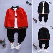 2017 new men's spring and autumn three suit 4 children 56 Boys 7 girls under the age of 8 spring tide.