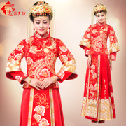 The bride wedding dress clothing Xiu he Chinese wedding clothes toast clothing 2016 Winter Dress Gown dragon show kimono