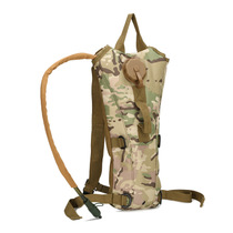 2.5L outdoor water bag Camo water bag backpack dual shoulder riding climbing tactics even portable water bag liner