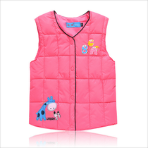 New children in autumn and winter down jacket feather padded small children wear for men and women vest keep warm vest waistcoat