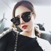 2017 new red eyes sunglass long face star Polarized Sunglasses female personality glasses face tide