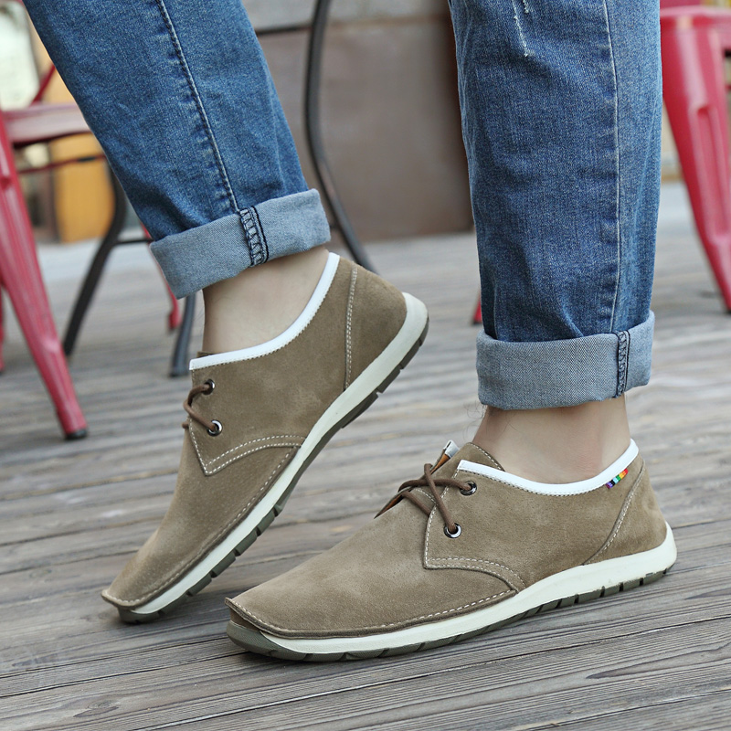 Business-casual shoes in men's shoes fall/winter new style suede leather low trend of the England men's driving shoes shoes