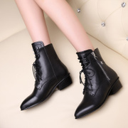 The small shoes 31 32 card code 33 Boots Size 40 41 43 43 lace up leather boots in England