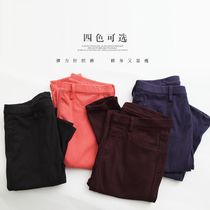 Elastic bottom ladies pants black pants casual pants stretch leggings pencil pants feet pants