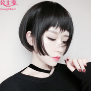 Dog hair wig female air bangs Bobo head shave fluffy natural Korea discount short straight