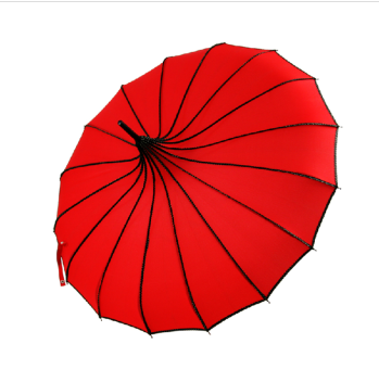 Long handle umbrella umbrella sunshade umbrella Princess retro double pagoda umbrella UV sunshade color