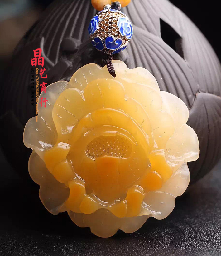 Absolutely beautiful atmosphere! Genuine natural huanglong jade pendant flowers Dragon jade necklace, pendant best female
