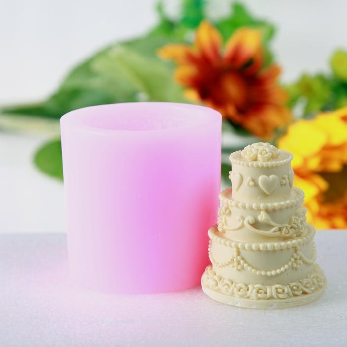 蛋糕立体硅胶模具 3d巧克力模 雪糕模 手工皂蜡烛翻糖软模具 果冻