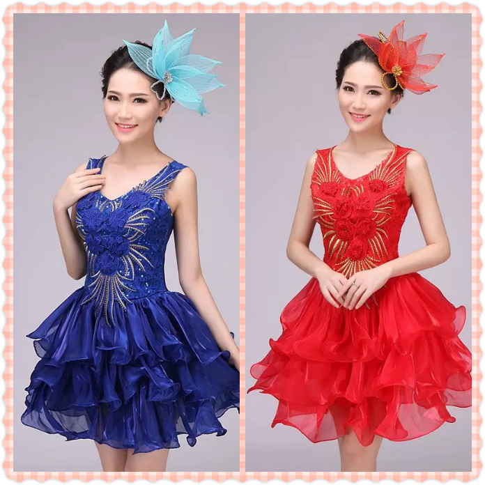 New modern dance costumes dress Tutu adult fashion sequin stage dancing dance costume