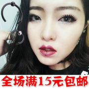 Fashion personality no hole false lip ring / lip clip / lip nail / female / nose / body piercing nail / nose clip / false nose / male