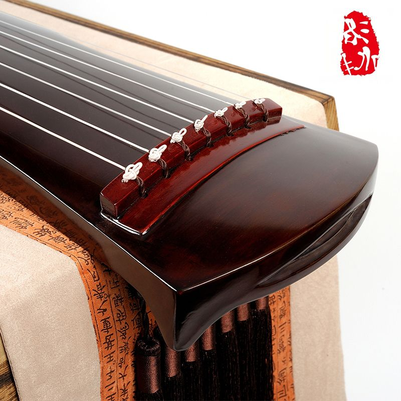 Band chaotic guqin of old-growth Chinese FIR-Qin Fu Zhong NI cream lacquer antler is a full-service package mail