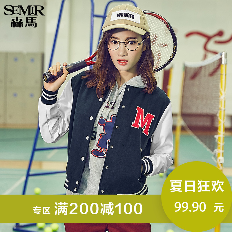 Semir autumn on the new Mickey Mouse embroidered lady Disney loose tide baseball uniform sport coat tide