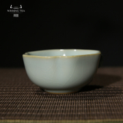 China aspires to genuine porcelain azure-Ling glass of Kung Fu tea ceramic Tea Cup ru-Kung Fu Tea Cup