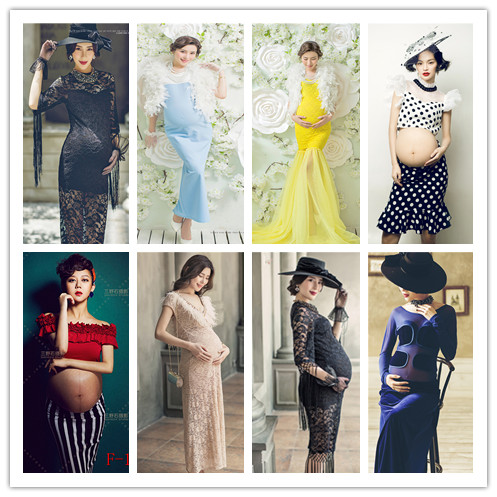 The original 2015 new photography maternity/studio pregnant women take pictures portray clothing/proud pregnant women dress