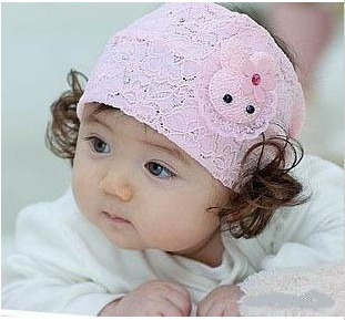 Han edition The rabbit lace have a hoop children baby baby hair hair band 27 g