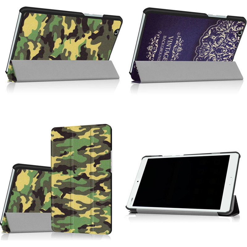 HUAWEI M3 protective cover, MediaPad M3 camouflage leather, 8.4 inches BTV-W09 BTV-DL09 flat shell