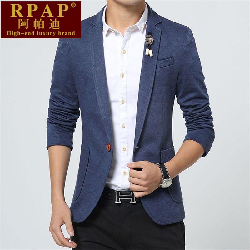 高端奢侈品牌 RPAP 新款韩版时尚休闲男装修身百搭纯色潮男小西装