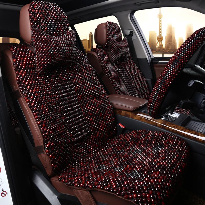 手编木珠座套 香樟木椅套 汽车单垫 橄榄木野枫杉 办公椅垫沙发垫