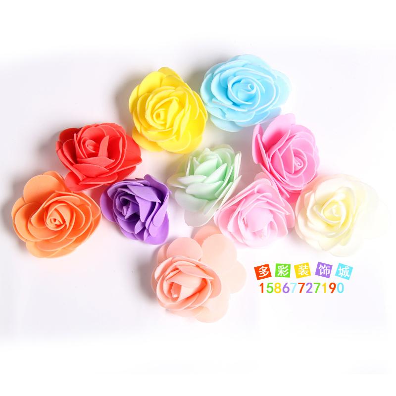 幼儿园教室环境墙面布置装饰品墙贴壁纸贴3D立体泡沫花玫瑰花小