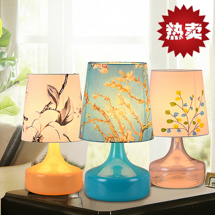 Xiao Xi garden colored vase bedroom bedside lamps creative wedding simple retro children room decoration lamp