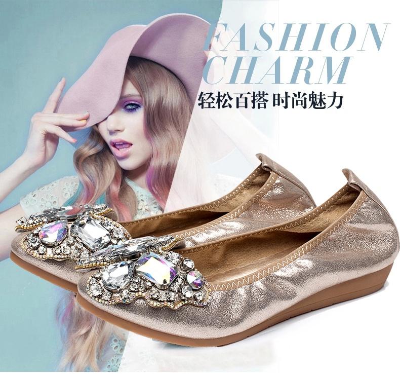 2015 new autumn Bow Shoes elastic thick bottom line sweet Ladies Womens Casual Shoes tidal flats