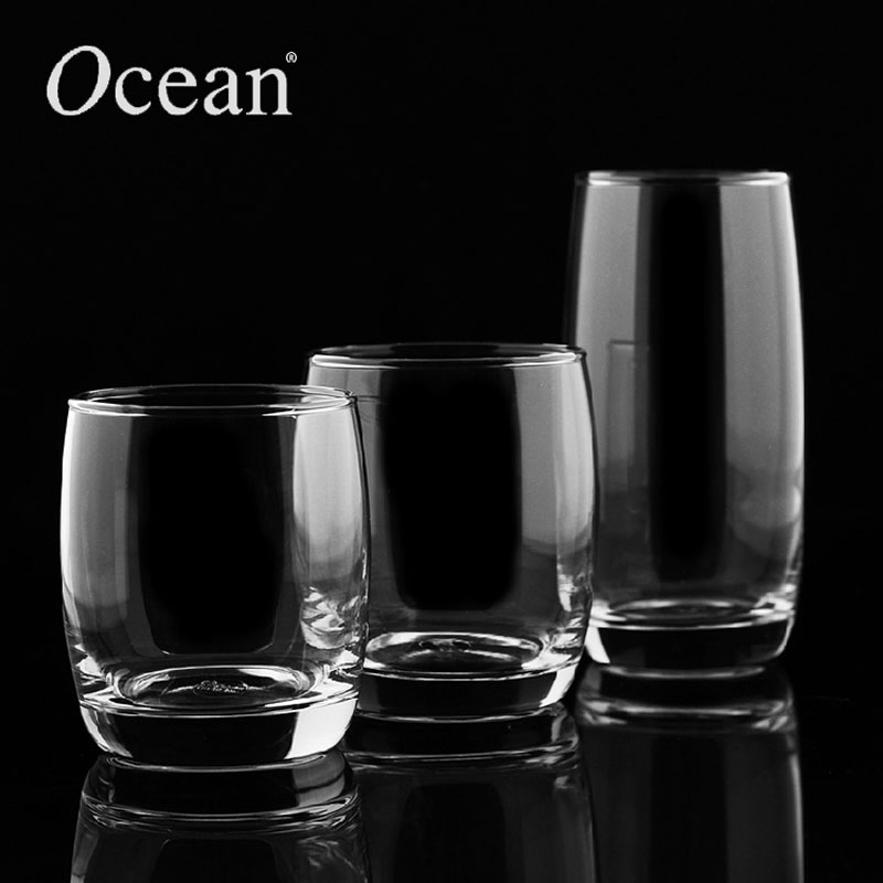 Mail Ocean import lead-free round, tall Cup of clear whiskey cups juice cups