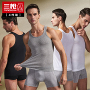 Send three shots underwear vest Men Sport Fitness underwear tight hurdle size slim type primer shirt