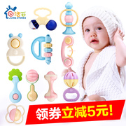Hand bells, baby toys, 0-3-6-12 months baby, boys and girls, 4 puzzle gum, 1 year old, newborn baby 5