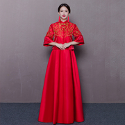 2016 new Chinese style clothing Xiuhe wedding dress red cheongsam long gown bride wedding dress female dragon