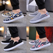 Men's shoes shoes casual shoes Doug Korean canvas shoes slip on shoes lazy old Beijing shoes in autumn