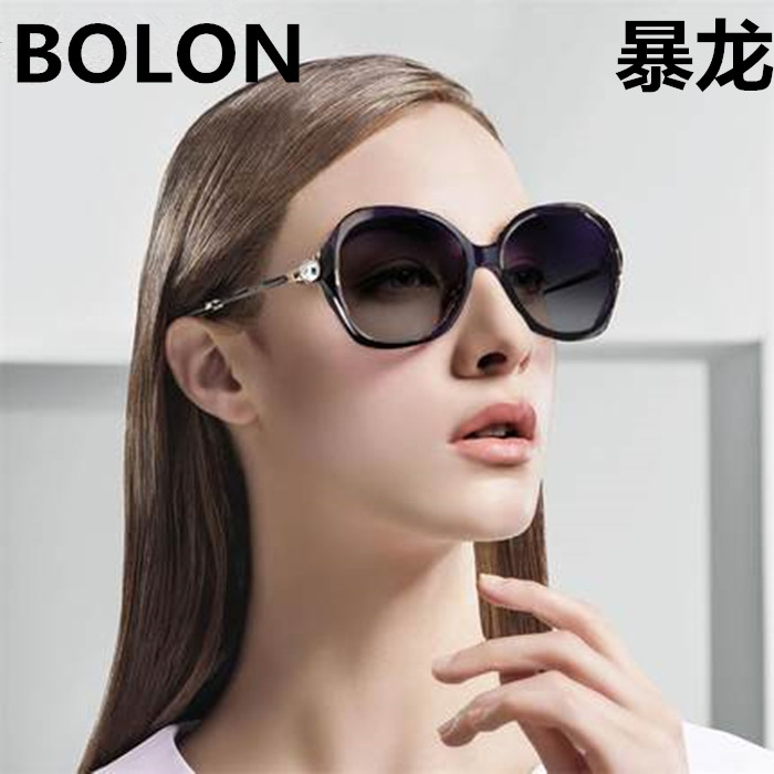 The large circular polarizer Sunglasses RETRO SUNGLASSES star BL round face long face tide elegant and comfortable 2519