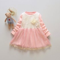 Fall winter girls dresses and cashmere 1-2-3-4 girl princess dress with long sleeves mesh bottom skirt