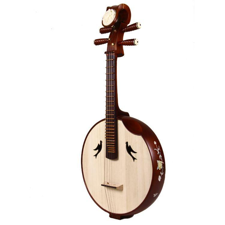 Hot features Mahogany in Ruan musical instrument specialty copper shell carvings Ruan student practice Ruan Special Sale