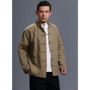 Dali national men's wind jacket Chinese cotton, linen solid color buttons Cardigan package mail