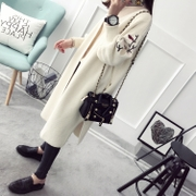 Long cardigan sweater lady spring 2017 new loose spring spring coat in Korean all-match sweater