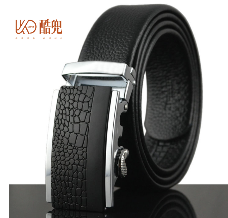 Cool pocket 2016 new men, automatic buckle Korean version, leather fashion men's Edition belt, pure leather, male belt 1097